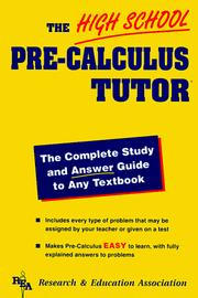 Cover of: High School Pre-Calculus Tutor (High School Tutors)
