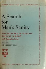 Cover of: A search for man's sanity | Lifwynn Foundation (Westport, Connecticut)