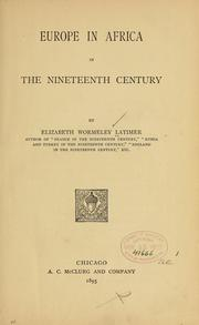 Europe in Africa in the nineteenth century by Elizabeth Wormeley Latimer