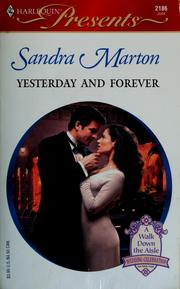 Cover of: YESTERDAY AND FOREVER | Sandra Marton