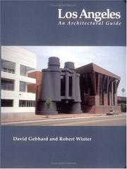 Cover of: Los Angeles, an architectural guide