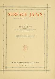Cover of: Surface Japan | Don Carlos Seitz
