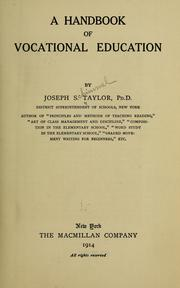 Cover of: A handbook of vocational education | Joseph S. Taylor