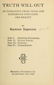 Cover of: Truth will out ... | Supercern, Seymour pseud?