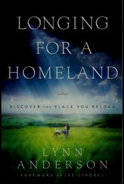 Cover of: Longing for a homeland | Lynn Anderson