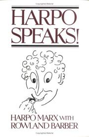 Cover of: Harpo Speaks! | Harpo Marx, Rowland Barber