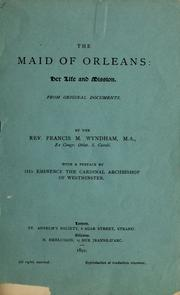 Cover of: The maid of Orleans | Francis M. Wyndham