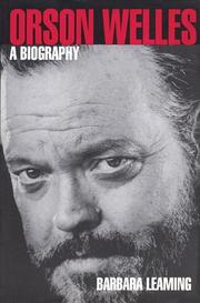 Cover of: Orson Welles | Barbara Leaming