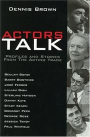 Cover of: Actors talk