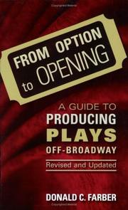 Cover of: From option to opening | Donald C. Farber
