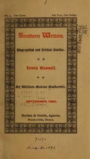 Cover of: Irwin Russell | William Malone Baskervill