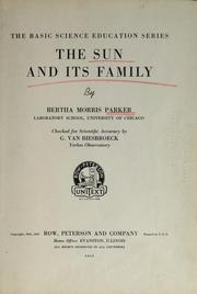 Cover of: ...The sun and its family | Bertha Morris Parker