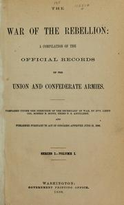 Cover of: The war of the rebellion | United States. War Dept.