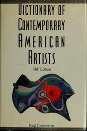 Cover of: Dictionary of contemporary American artists | Paul Cummings