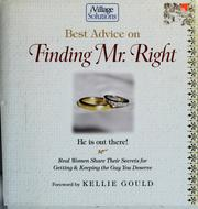 Cover of: Best advice on finding Mr. Right | Kellie Gould