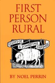 Cover of: First person rural