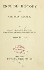 Cover of: English history for American readers. | Thomas Wentworth Higginson