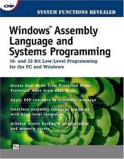 Cover of: Windows assembly language & systems programming
