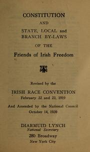 Cover of: Constitution and state | Irish race convention, Philadelphia, 1919. [from old catalog]