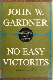 Cover of: No easy victories | John William Gardner
