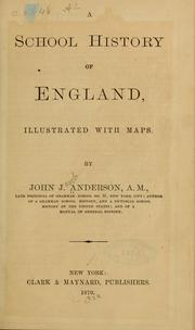 Cover of: A school history of England ... | Anderson, John J.