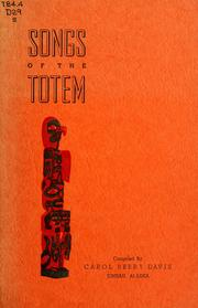 Cover of: Songs of the totem | Carol Beery Davis