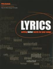Cover of: Lyrics: Writing Better Words for Your Songs (Songwriting)