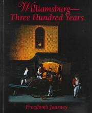 Cover of: Williamsburg-- three hundred years | David M. Doody