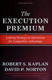 The execution premium by Robert S. Kaplan