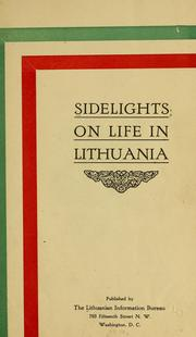Cover of: Sidelights on life in Lithuania. |