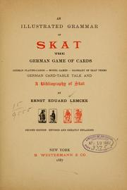 Cover of: An illustrated grammar of skat | Ernst Eduard Lemcke