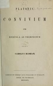 Cover of: Convivium by Plato
