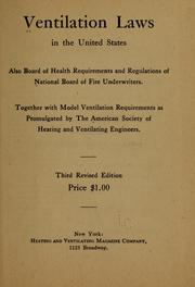Cover of: Ventilation laws in the United States |