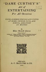 Cover of: Dame Curtseys art of entertaining for all occasions | Ellye Howell Glover