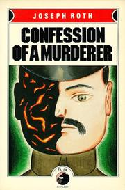 Cover of: Confessions of a Murderer