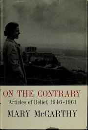 Cover of: On the contrary