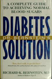 Diabetes solution by Richard K. Bernstein