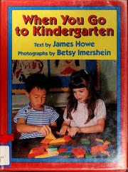 Cover of: When you go to kindergarten |