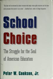 Cover of: School choice