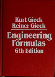 Cover of: Engineering Formulas | Kurt Gieck