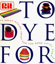 Cover of: To Dye for