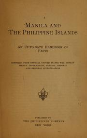 Cover of: Manila and the Philippine Islands by The Philippines company, New York. [from old catalog]