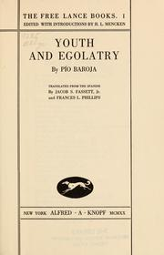 Cover of: Youth and egolatry | PГ­o Baroja