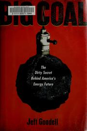 Cover of: Big coal | Jeff Goodell