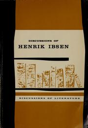 Cover of: Discussions of Henrik Ibsen by James Walter McFarlane