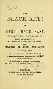 The black art!
