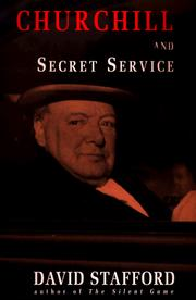 Cover of: Churchill and the Secret Service