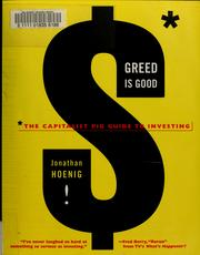 Cover of: Greed Is Good | Jonathan Hoenig