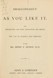 Cover of: Shakespeare's As you like it | William Shakespeare