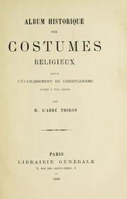 Album historique des costumes religieux